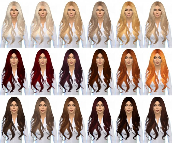 Miss Paraply: Alesso's Quantum hairstyle retextured for Sims 4