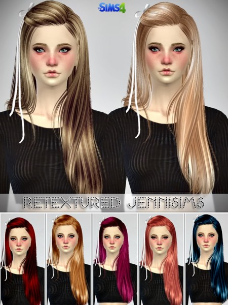 Jenni Sims: Butterflysims 099,132,136 Hairstyles retextured for Sims 4