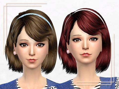 Sakura Phan: Ela hairstyle retextured for Sims 4