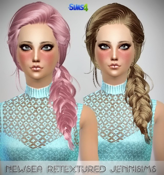 Jenni Sims: Newsea`s Night Bloom and Joice hairstyles retextured for Sims 4