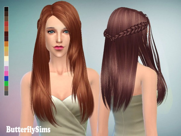 Butterflysims: Hairstyle 136 for Sims 4
