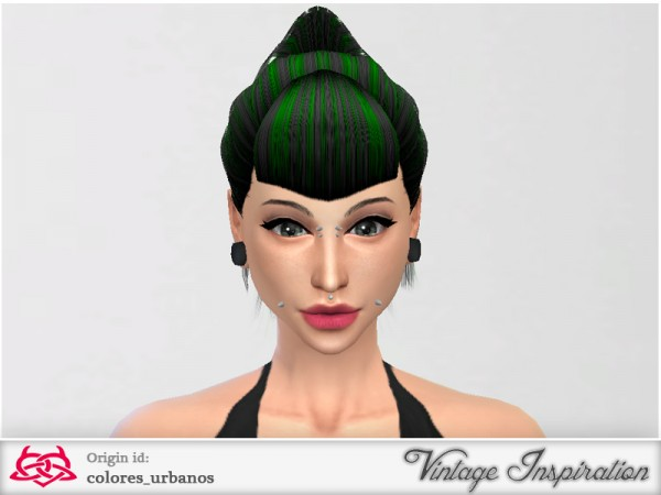 The Sims Resource: Ponytail bang by Colores Urbanos for Sims 4