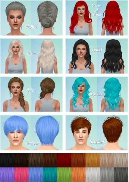 Ashley: Newsea`s hair dump part 1 for Sims 4