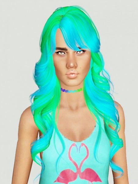 Monolith Sims: Skysims 255 hairstyle retextured for Sims 4