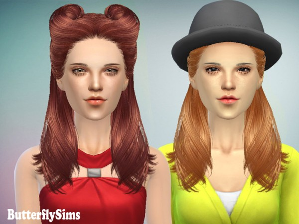 Butterflysims: Hairstyle 082 for Sims 4