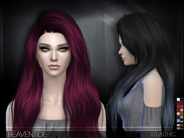 Stealthic: Heaventide hairstyle for Sims 4