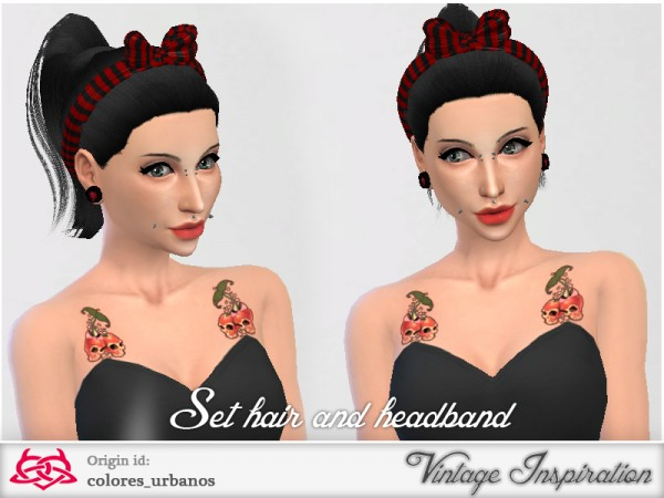 The Sims Resource: Retro hairstyle by Colores Urbanos for Sims 4