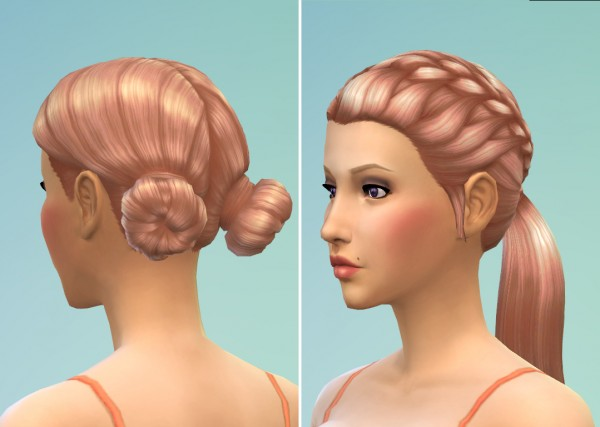 Mod The Sims: Strawberry Blonde Hairstyles recolor by kellyhb5 for Sims 4
