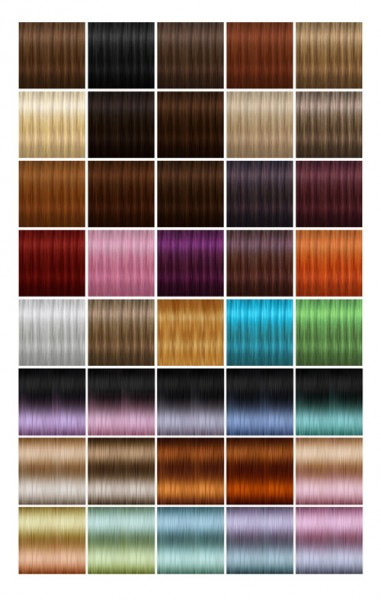 Jenni Sims: NewTextures for retextured hair sims 4 (87 colors) for Sims 4