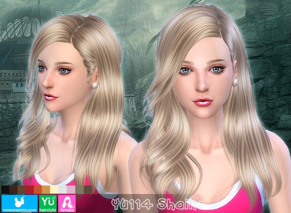 NewSea: Yu 114 Shine hairstyle for Sims 4