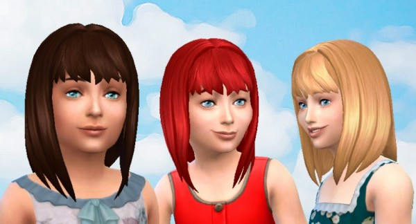 Mystufforigin: Serenity Hair for Girls for Sims 4