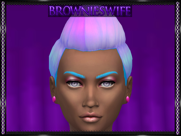 The Sims Resource: Pompadour Spikey Pastel Ombre by brownieswifesims for Sims 4