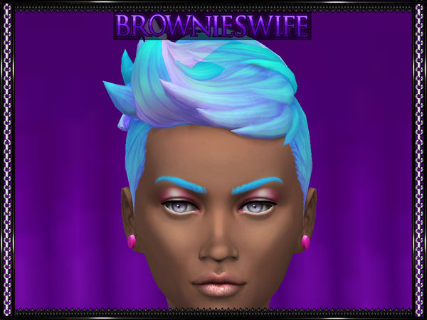 The Sims Resource: Short Blow Dry Pastel Ombre by brownieswifesims for Sims 4