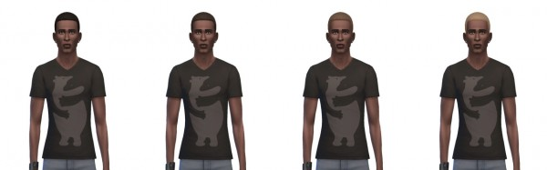 Busted Pixels: Short afro hairstyle recolor for Sims 4