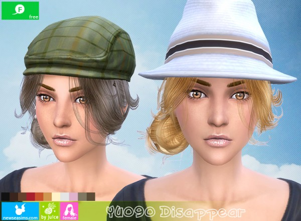 NewSea: YU090 Disappear hairstyle for Sims 4