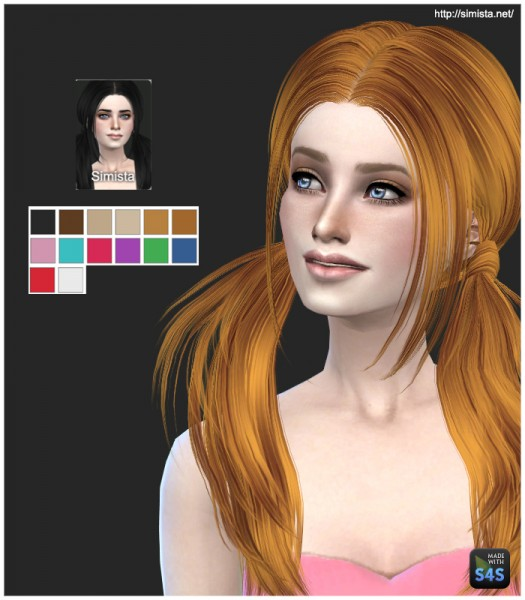 Simista: Butterfly 068 hairstyle retextured for Sims 4