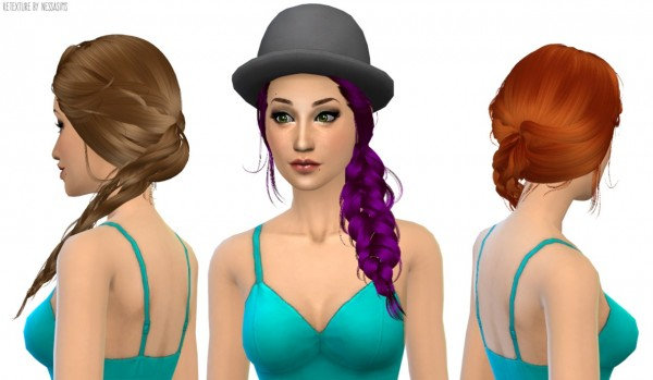 Nessa sims: Newsea`s Joice hairstyle retextured for Sims 4