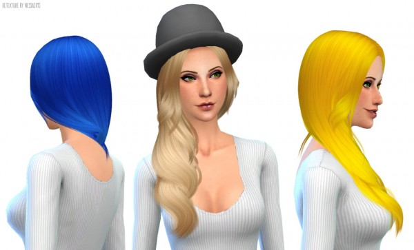 Nessa sims: Cazy`s Danity hairstyle retextured for Sims 4