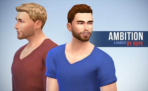 Simsontherope: Abitions hairstyle by Rope for Sims 4