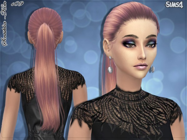 soccer hairstyles for girls : Sims 4 Hairs ~ The Sims Resource: Straight ponytail hairstyle 09 Kim ...