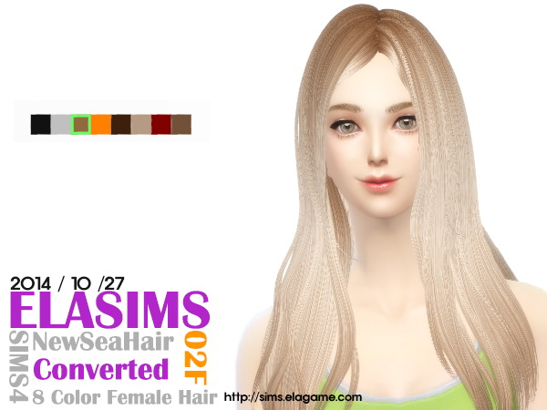 MAY Sims: ELA Hair 02F for Sims 4