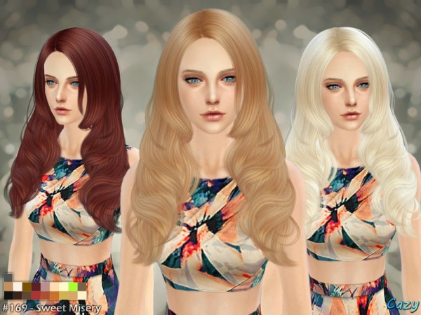 The Sims Resource: Sweet Misery hairstyle by Cazy for Sims 4