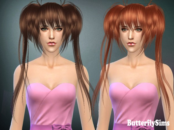 Butterflysims: Anime Hairstyle 022 for Sims 4