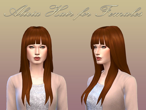 NotEgain: Alicia Hairstyle for Sims 4