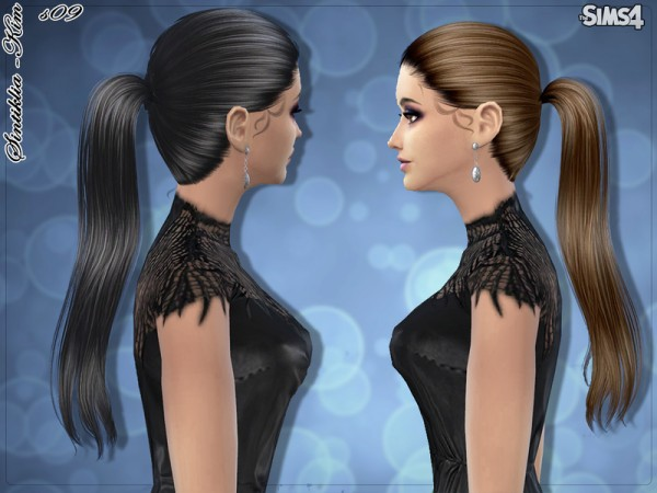 The Sims Resource: Straight ponytail hairstyle 09 Kim by Sintiklia for Sims 4