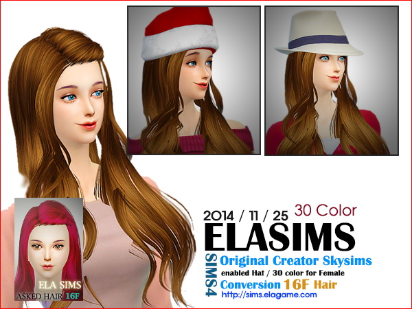 MAY Sims: Skysims hairstyle 16F converted by ELA for Sims 4