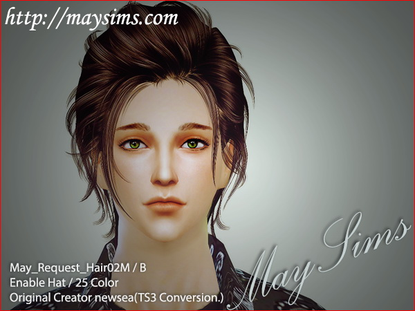 MAY Sims: Newsea`s May Request Hair 02M for Sims 4