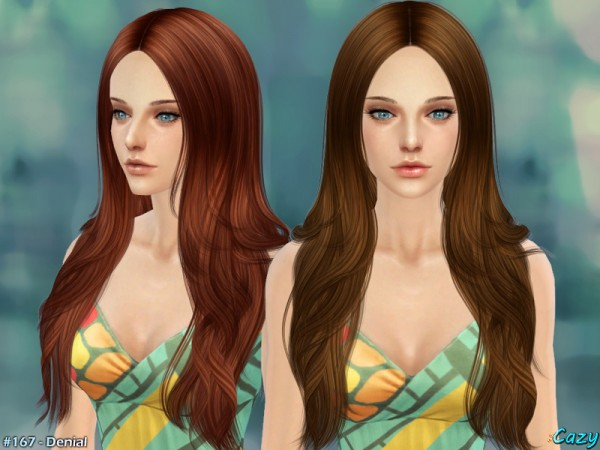 The Sims Resource: Denial hairstyle by Cazy for Sims 4