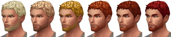 Simsontherope: Short And Curly haircut for Sims 4