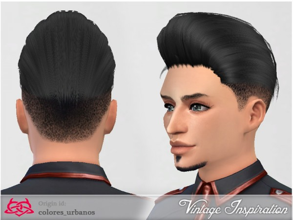 The Sims Resource: Male hair 01 by Colores Urbanos for Sims 4