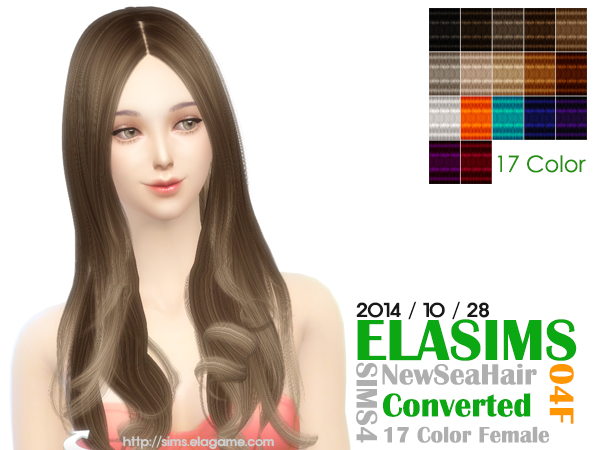 MAY Sims: Newsea`s hairstyles 04 F converted by ELA for Sims 4