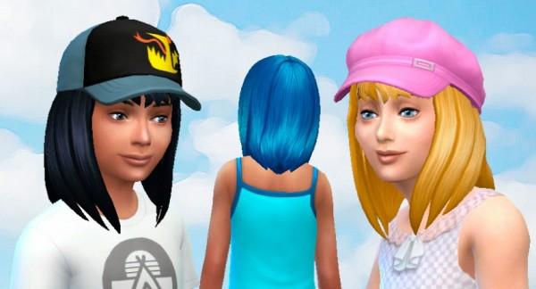 Mystufforigin: Serenity Hair for Girls for Sims 4