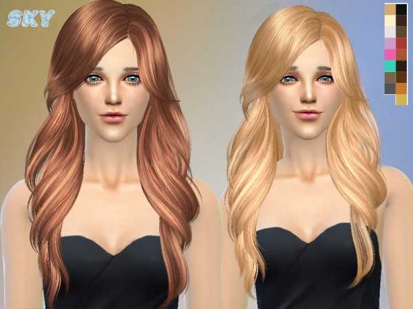 The Sims Resource: Hairstyle 229 by Skysims for Sims 4