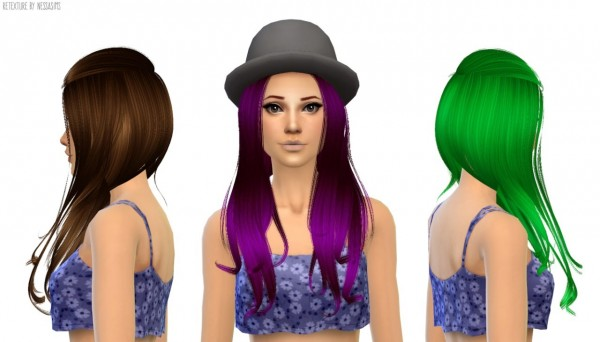 Nessa sims: Alesso`s Aurora hairstyle retextured for Sims 4