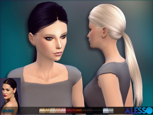 The Sims Resource: Rocket Hairstyle by Alesso for Sims 4
