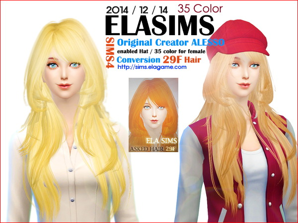 MAY Sims: Alesso`s hairstyle 29F converted by ELA for Sims 4