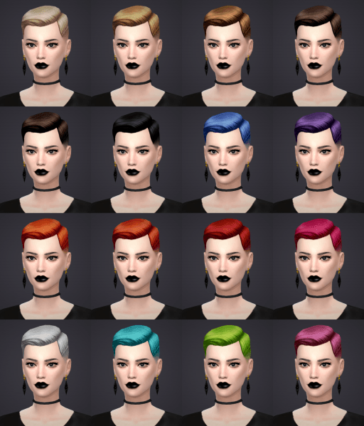 Salem2342: Short Crew Cut Side Part Hairstyle conversion for Sims 4