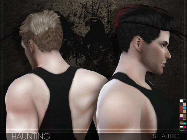 Stealthic: Haunting hairstyle for Sims 4