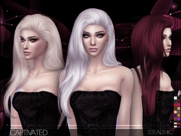 Stealthic: Captivated hairstyle for Sims 4