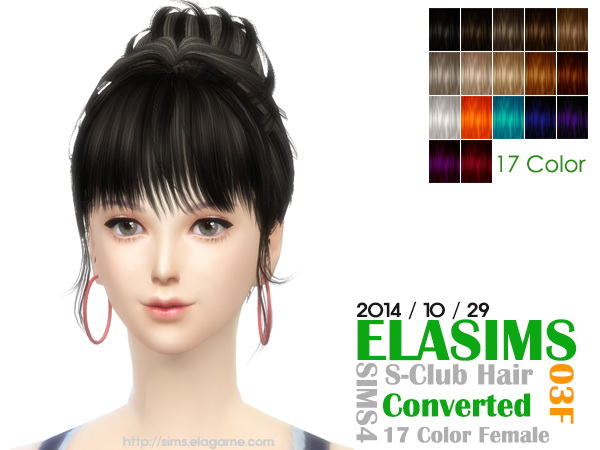 MAY Sims: NewSea`s Hairstyle 03F converted by ELA for Sims 4