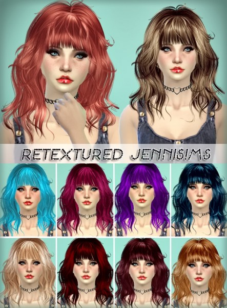 Jenni Sims: Newsea`s Gravitation and Melissa Hairstyle retextured for Sims 4