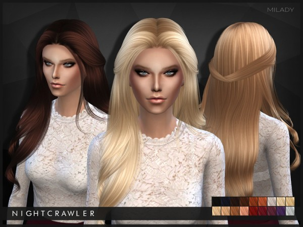 The Sims Resource: Milady hairstyle by Nightcrawler  for Sims 4