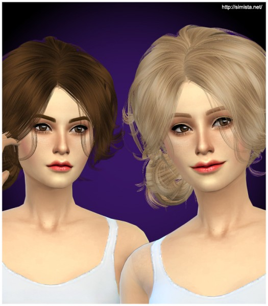 Simista: Newsea Hairstyle YU090f retextured for Sims 4