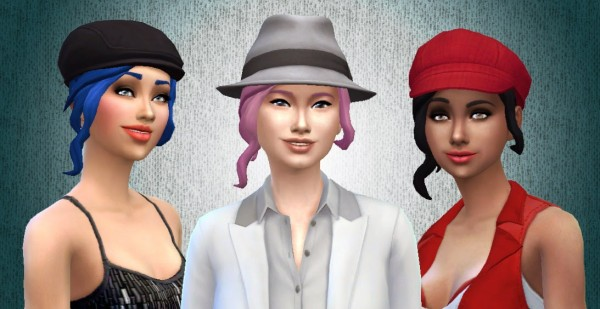 Mystufforigin: Curly Ponytail for Sims 4