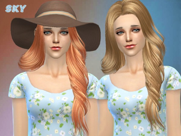 The Sims Resource: Twisted hairstyle by Skysims for Sims 4