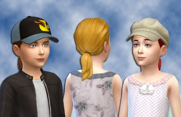 Mystufforigin: Pony Tail Conversion for Sims 4